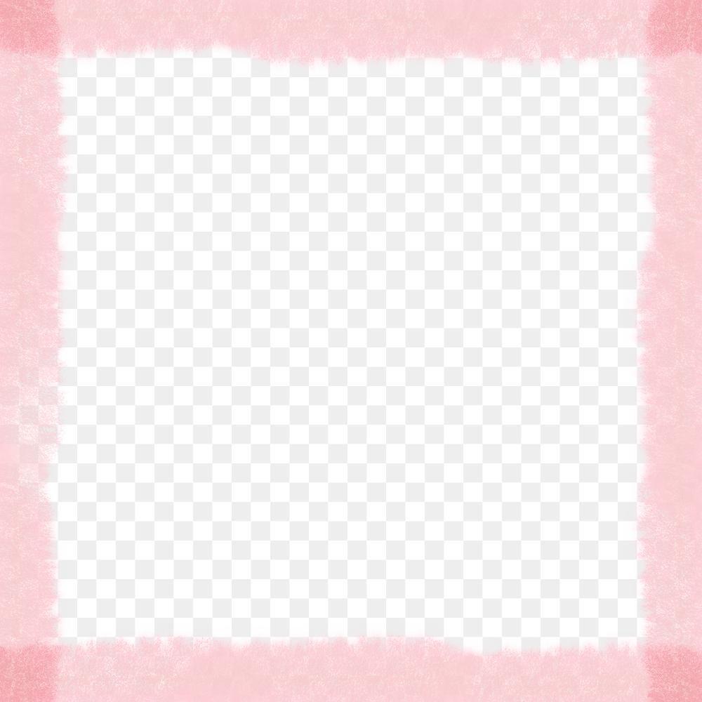 Download free png of Square pink brush stroke fram