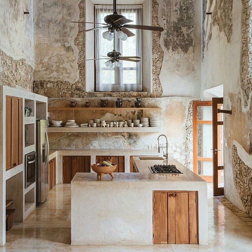 Pin de fede molla en rustic pinterest cocinas casas y for Cocinas pequenas rusticas