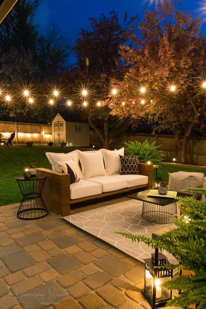 Casual Modern Backyard Patio Reveal   Garrison Street Design Studio