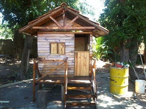 C mo construir una casita de madera para ni os youtube for Casitas madera jardin
