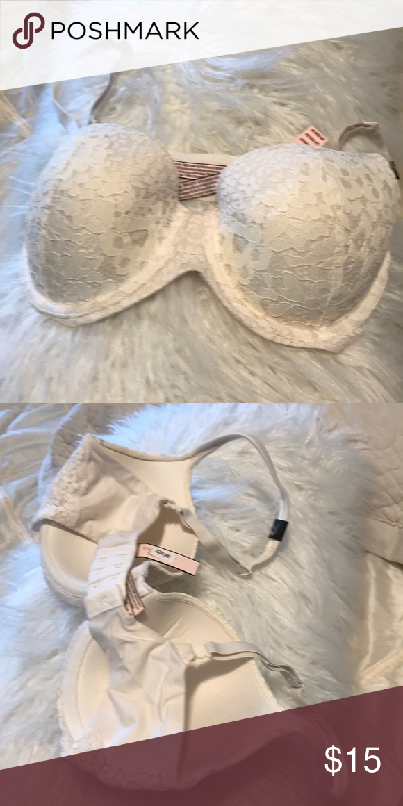 25e4f3557 Victoria Secret 32 DD bra Funny by Victoria Demi lined 32 double D off  white bra Victoria s Secret Intimates   Sleepwear Bras
