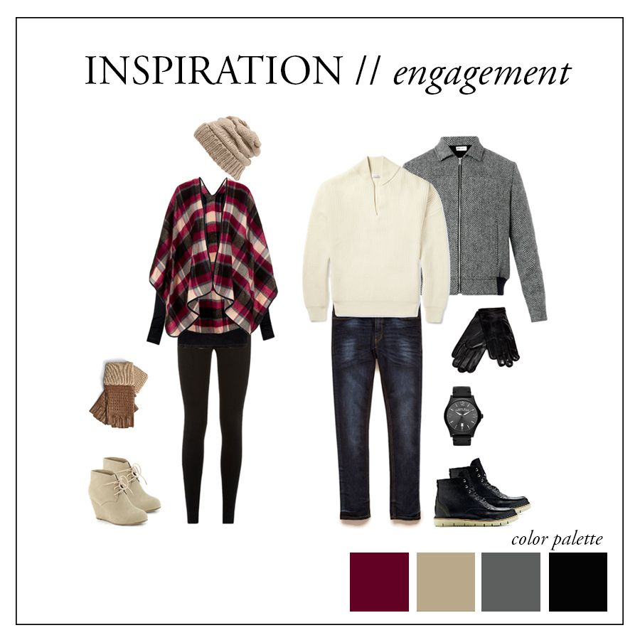 what to wear for winter engagement shoot