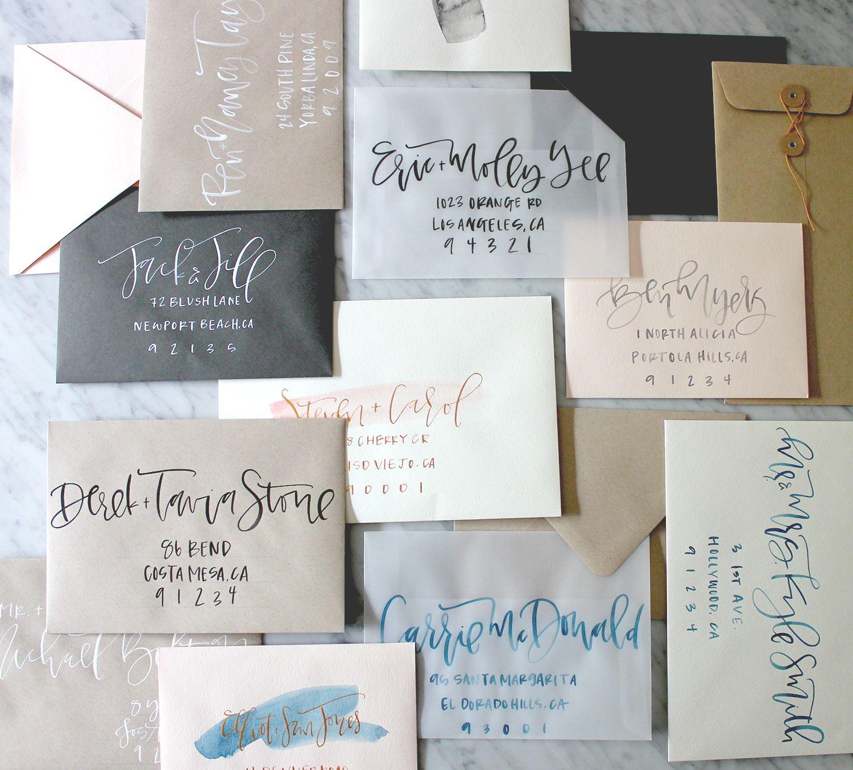 My New Secret Weapon For Addressing Envelopes Calligraphy Lauren Saylor Stationery Interiors Design Hand Lettering Wedding Envelope Calligraphy Calligraphy Envelope