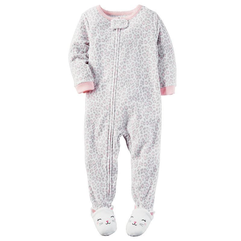 171bb5894 Baby Girl Carter s Leopard Fleece Footed Pajamas
