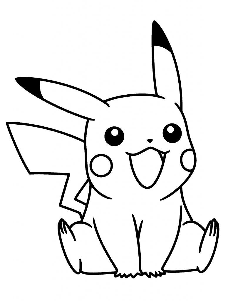 Adorable Pikachu Coloring Pages Pikachu Coloring Page Pokemon Coloring Pages Pikachu Drawing