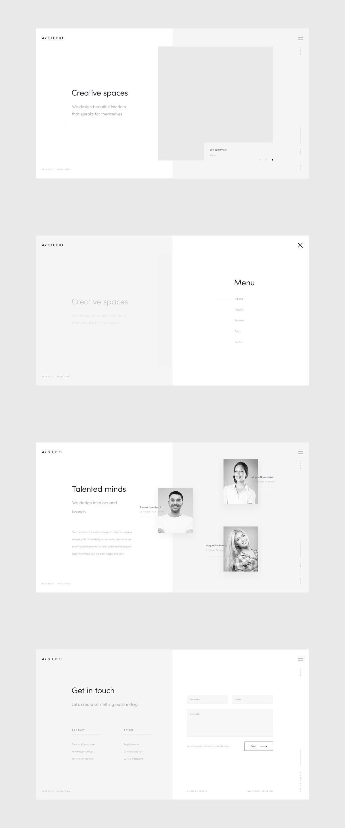 A7full2 Minimal Web Design Minimal Website Design Wireframe Design