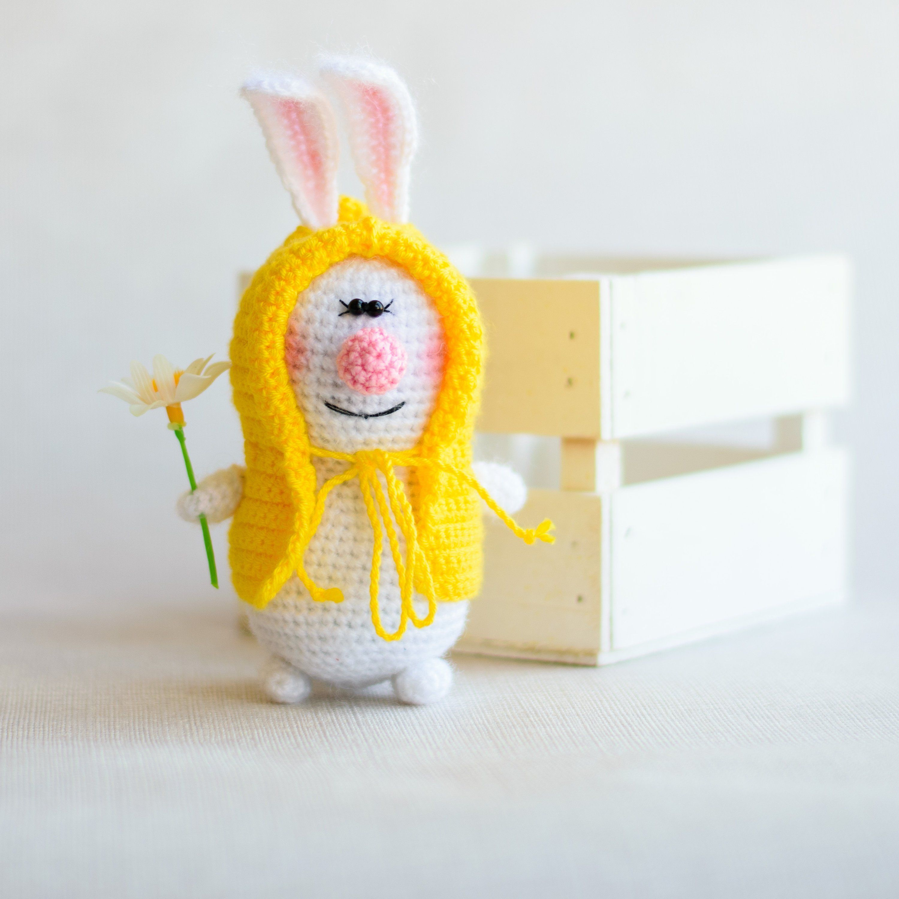 soft toy handmade bunny toy from Angora handmade bunny toy bunny crochet toy amigurumi toy crocheted knitted bunny toy independence day gift