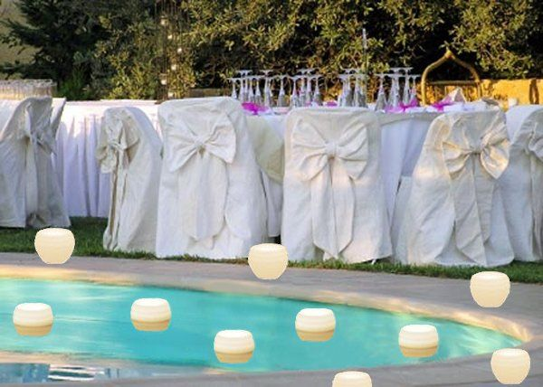 floating candles in pool | ... poolside receptions - floating in the ...