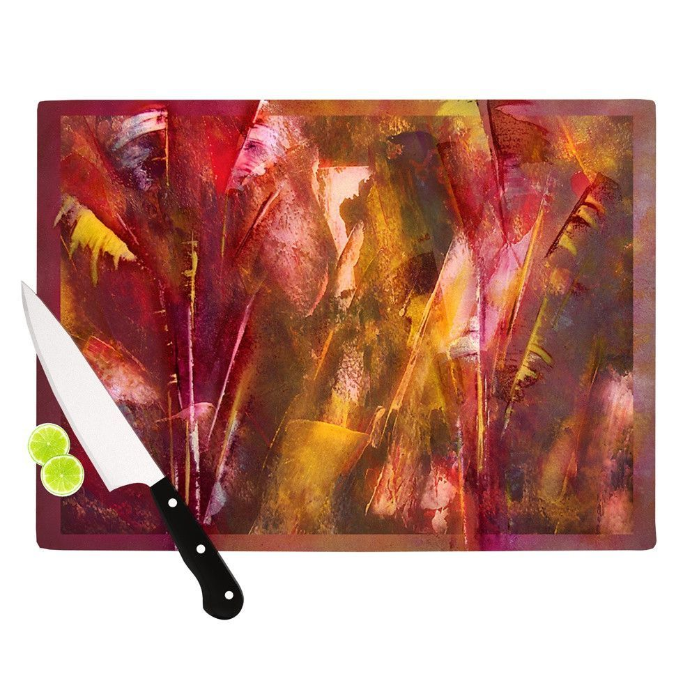 "Malia Shields ""Warmth"" Orange Red Cutting Board"