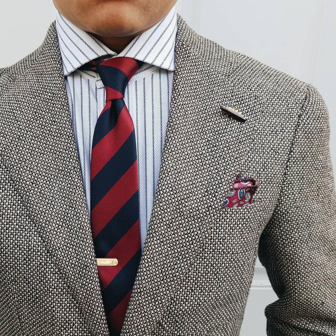 Burgundy navy blue stripes tie in 2020 shirt tie
