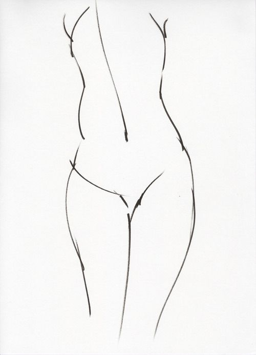 Super Simple Line Work To Imply An Assumed Female Figure Human Human Figure Drawing Drawings Minimalist Painting
