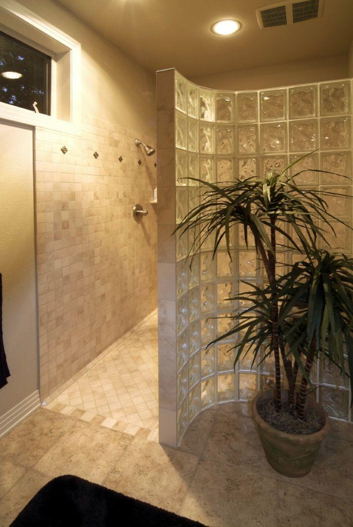 Mettons des briques de verre dans la salle de bains Bath ideas