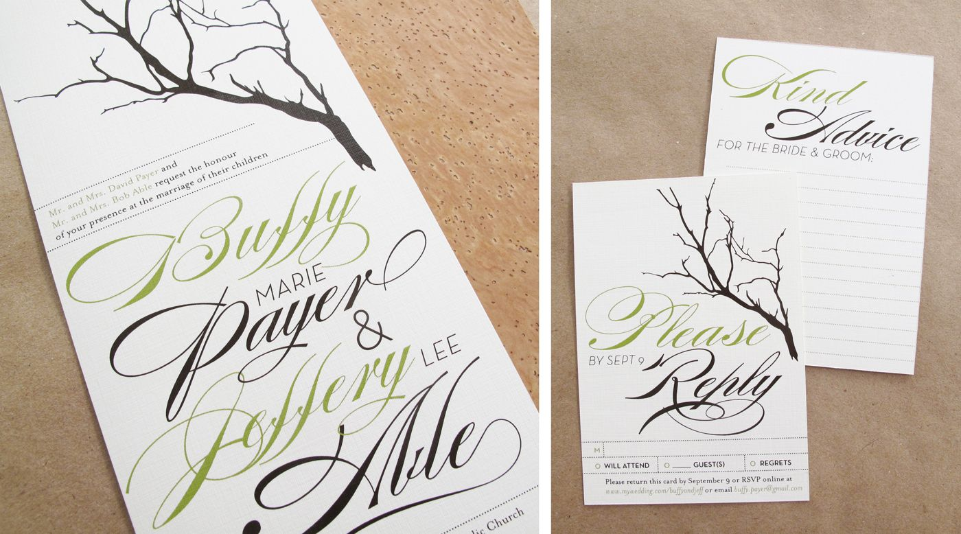 Buffy + Jeff\'s Twine, Cork, and Branch Wedding Invitations | Twine ...