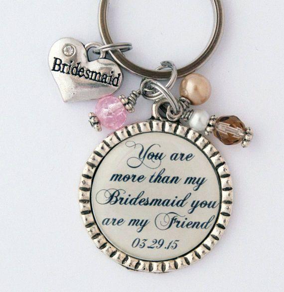 Wedding Gift For Acquaintance: Bridesmaid Keychain Thank You Gift For Friend Custom Key