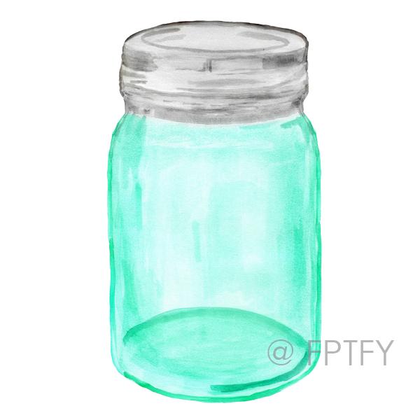 mason ball jar clipart image blue mason jars clip art