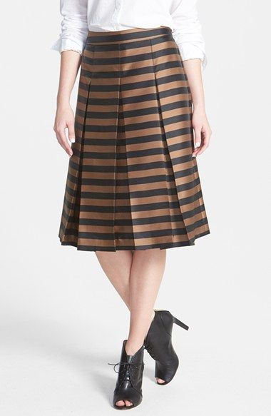 Halogen® Pleat Midi Skirt (Regular & Petite) available at #Nordstrom via @rachparcell