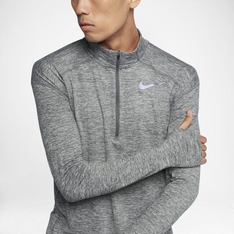 d11fbb67 Nike Dri-FIT Element Men's Long-Sleeve Half-Zip Running Top - Grey ...