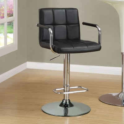 Prime Wade Logan Aripeka Adjustable Height Bar Stool Upholstery Ncnpc Chair Design For Home Ncnpcorg