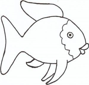 the rainbow fish template  Can use this for a Quiet book page
