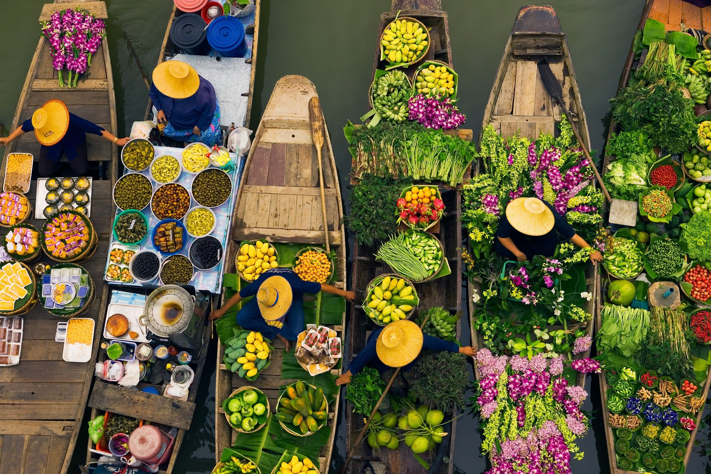 Art Wolfe Floating Market Floating Market Art And Stuff Thailand Art Thailand