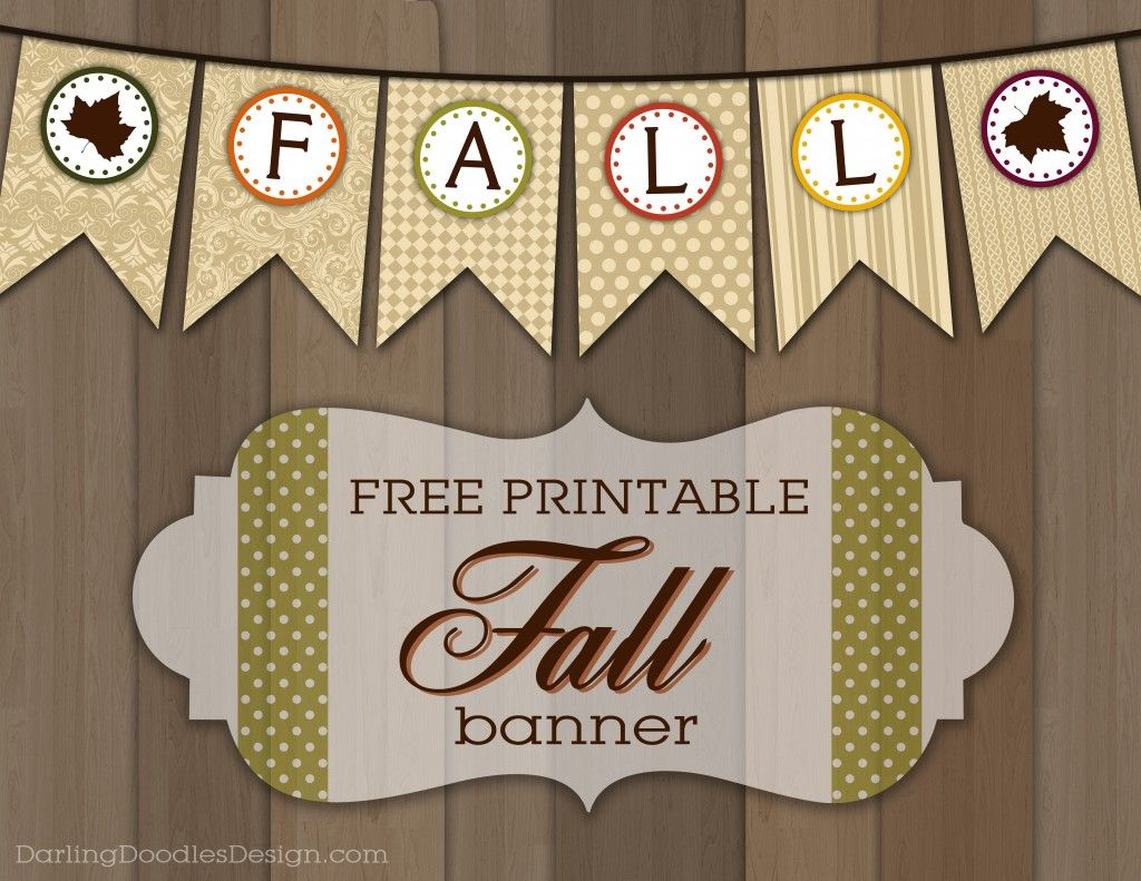photograph relating to Fall Banner Printable known as Free of charge Printable Slide Banner Drop Drop banner, Slide decor