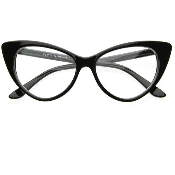 1950'S Vintage Mod Fashion Cat Eye Clear Lens Glasses 8435 (€9,17) ❤ liked on Polyvore featuring accessories, eyewear, eyeglasses, glasses, sunglasses, clear cat eye glasses, cat eye glasses, clear eye glasses, clear lens glasses и cat eye eyeglasses