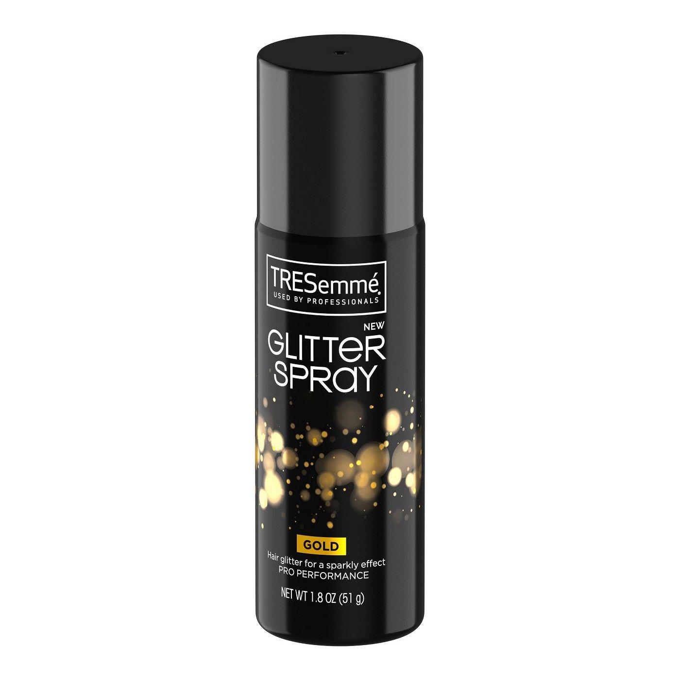 Tresemme Glitter Hair Spray Gold 1 8oz Glitter Hair Spray Glitter Hair Dark Dry Shampoo