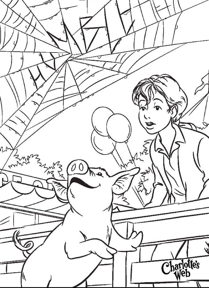 charlottes web character coloring pages - photo#13
