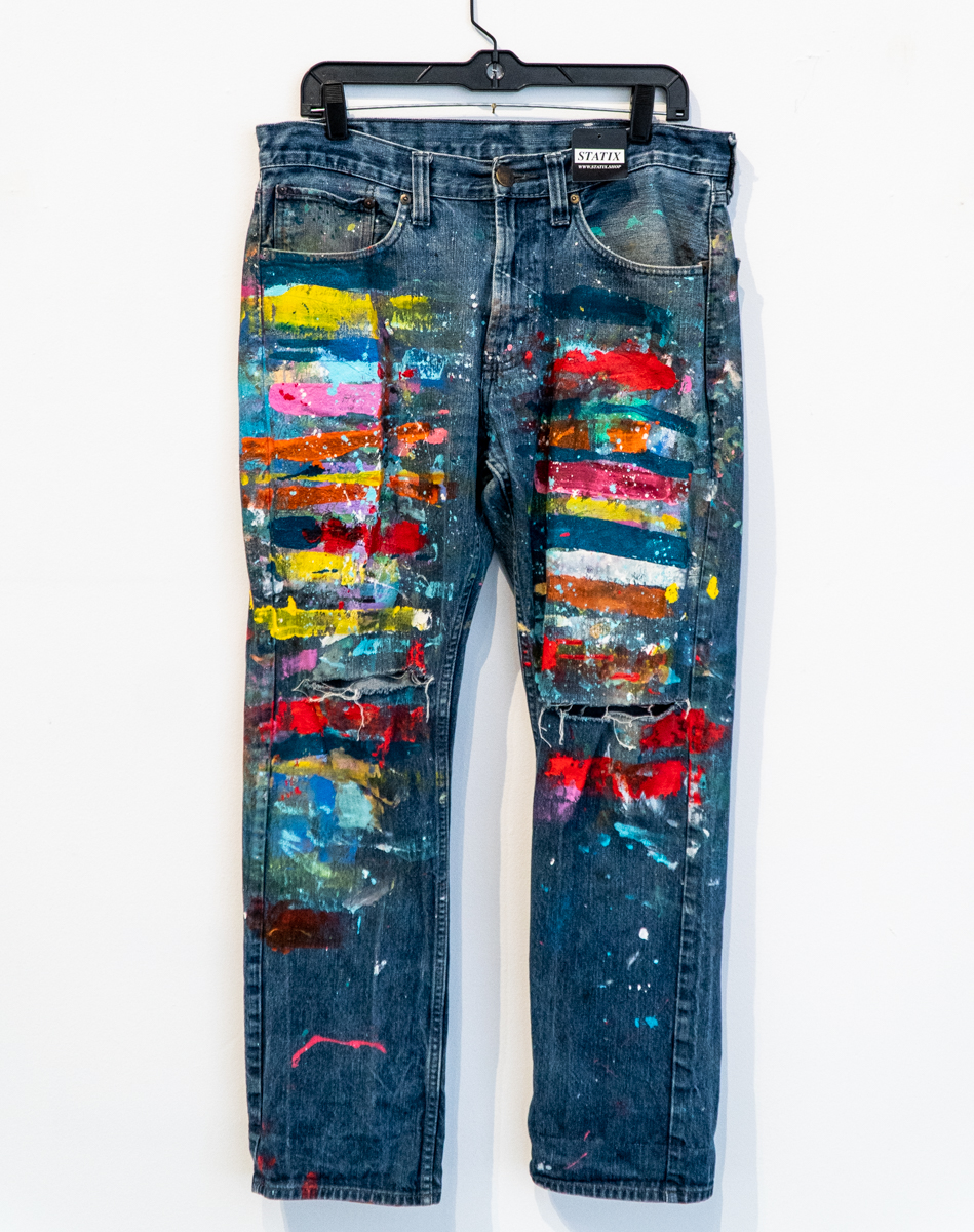 Paint Pants 06 - Size 34/32 Hand Painted on Bullhead jeans (Mens) — Ten Hundred