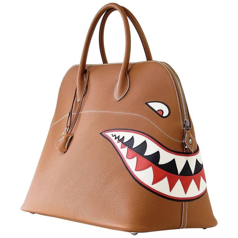 HERMES BOLIDE Bag Very Rare Limited Edition Runway Shark Bolide Palladium