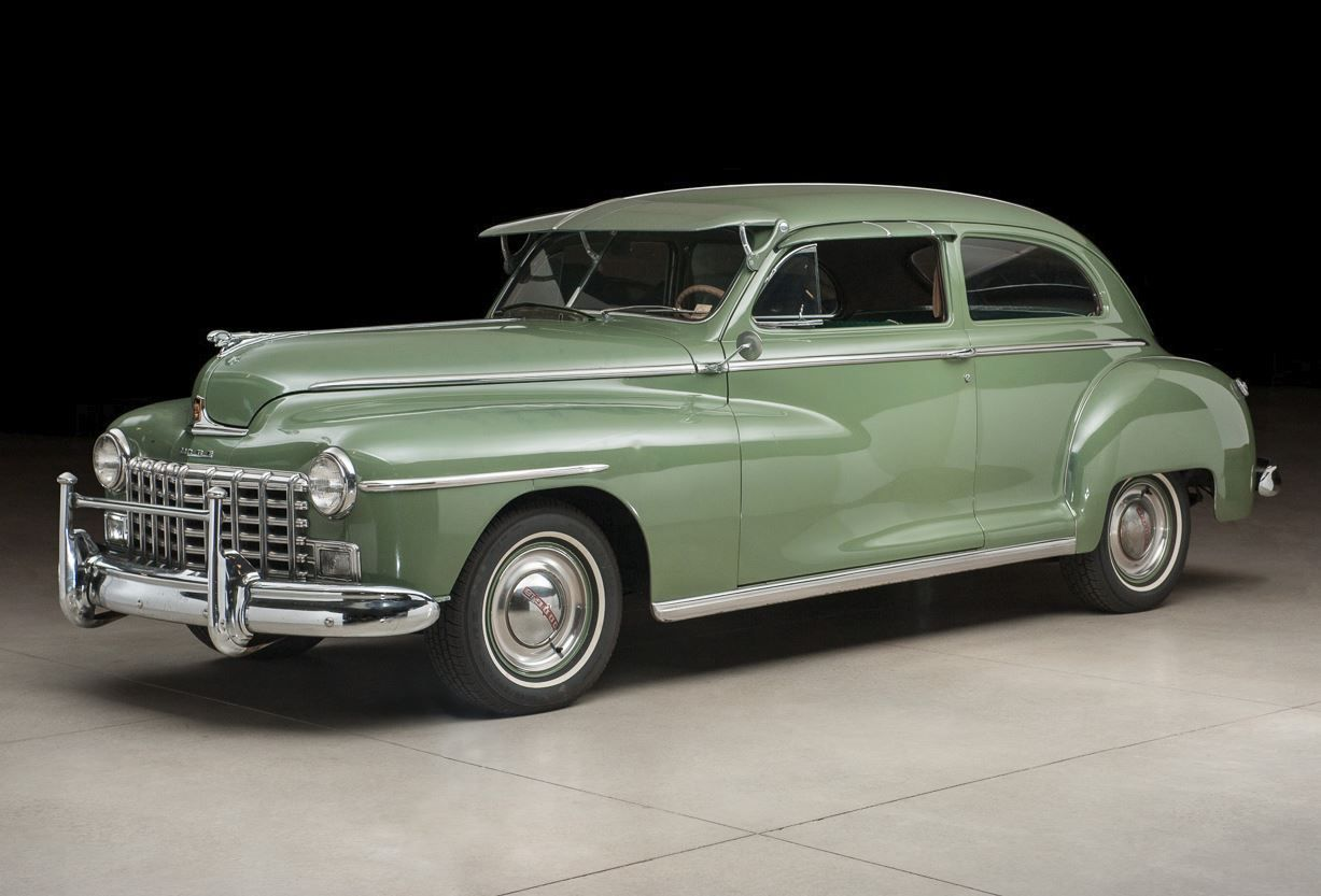 1948 Dodge DeLuxe 2-Door Sedan Maintenance of old vehicles: the material for new cogs/casters/gears/pads could be cast polyamide which I (Cast polyamide) can produce