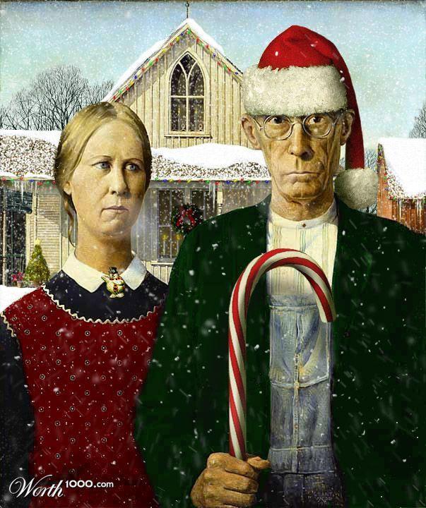 American Gothic Digitale Illustraties Illustraties Noel