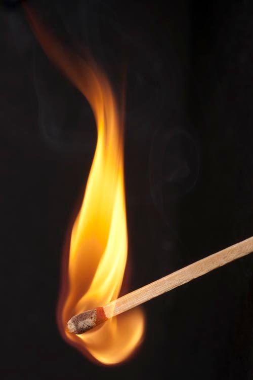 605 Wooden Match Stick On Fire Fire Decor Flame Decor