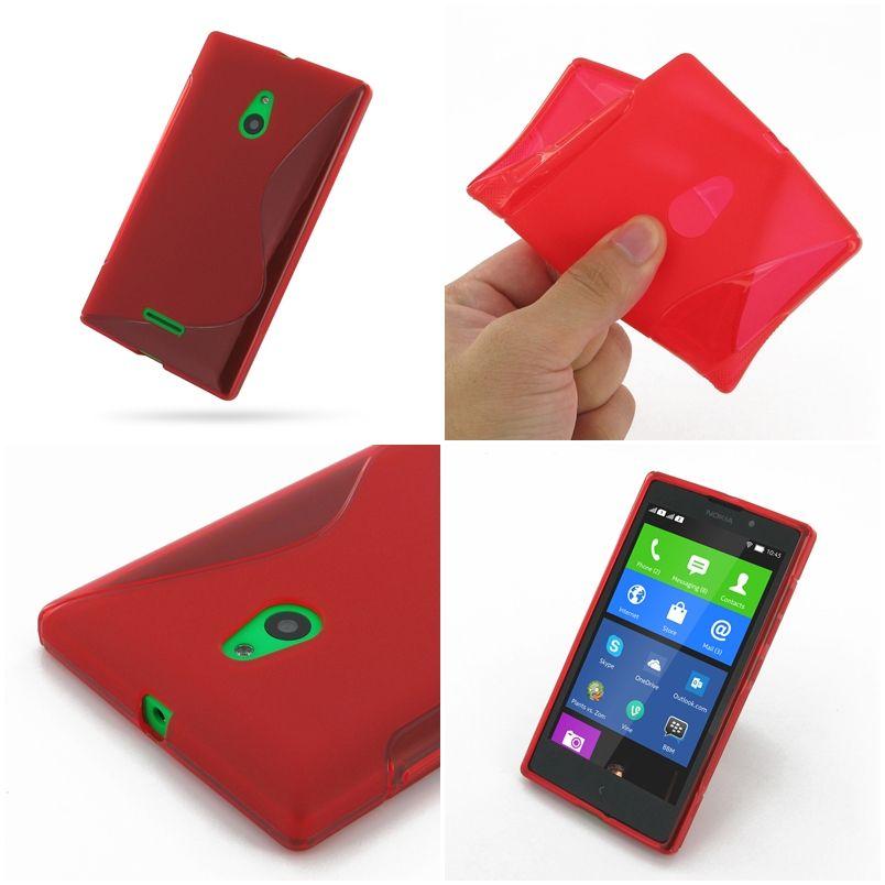 Pdair soft plastic case for nokia xl dual sim reds shape