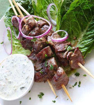brochettes d'agneau à la grecque à la plancha @cuisine et mets