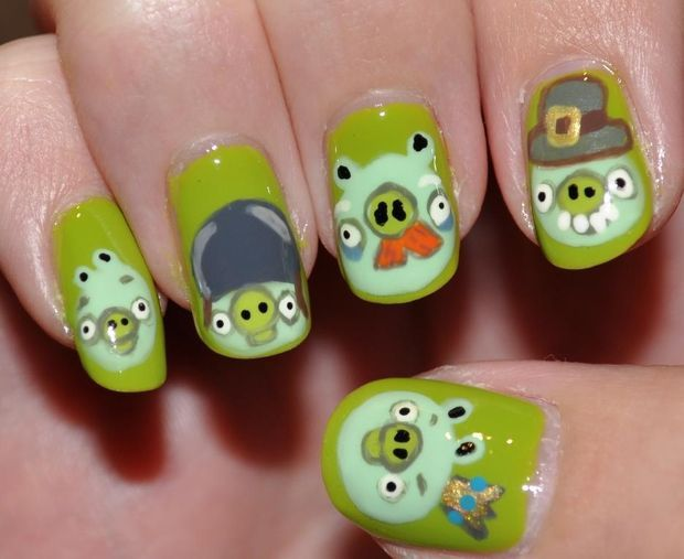 Bahaha angry birds pigs <3 stole from Sheila | nails | Pinterest ...
