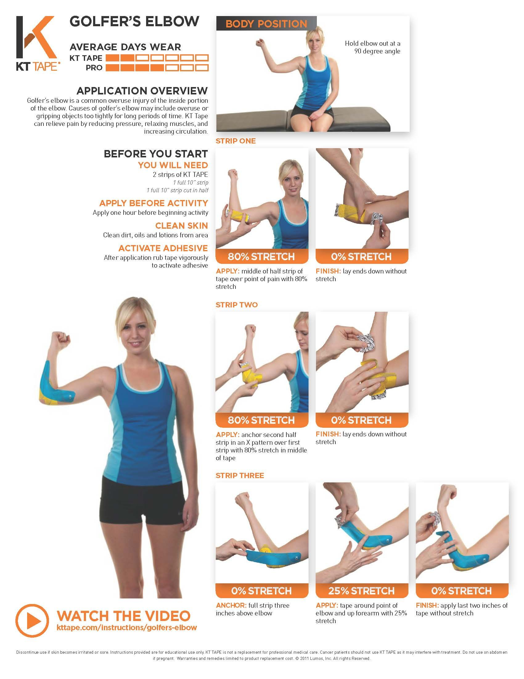 Pin on Kinesiology Tape: KT Tape