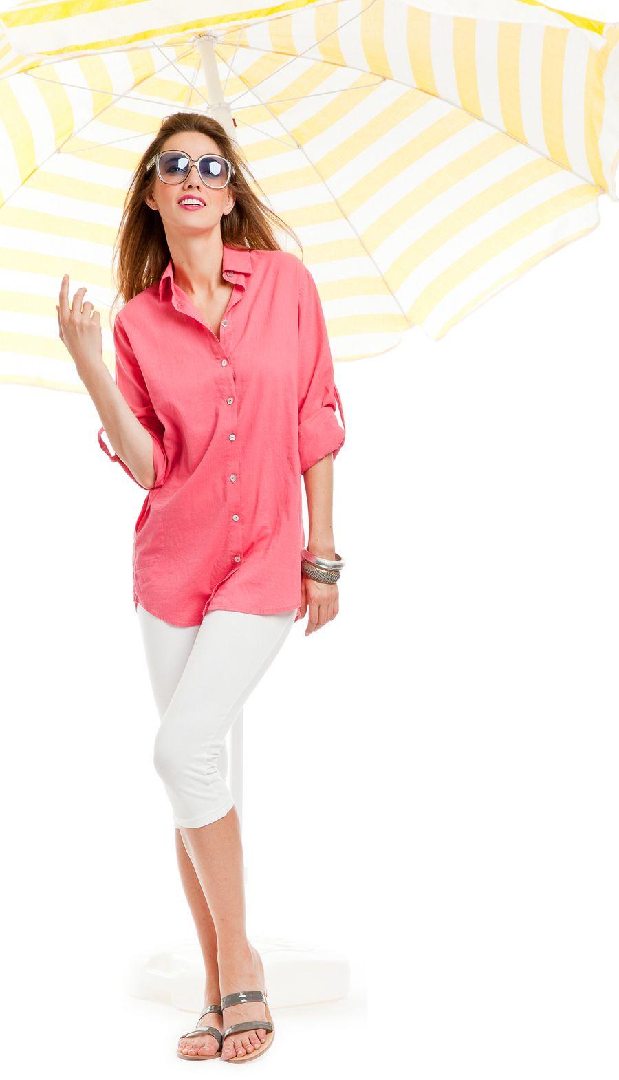 noidìnotte Collezione Spring/Summer 2012  € 24,90  CAMICIONE DONNA MALENA MANICA LUNGA COT. CON LEGGINS COTONE ED ELASTANE  #pigiama #easywear #look