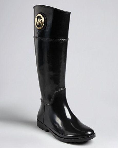 Michael Kors Black Michael Rain Boots