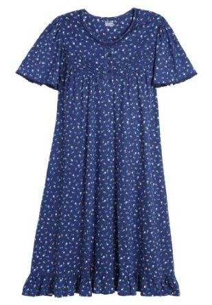 Only Necessities Plus Size Short Knit Rosebud Gown (Dark Navy Rosebud,2X) Only Necessities. $14.99