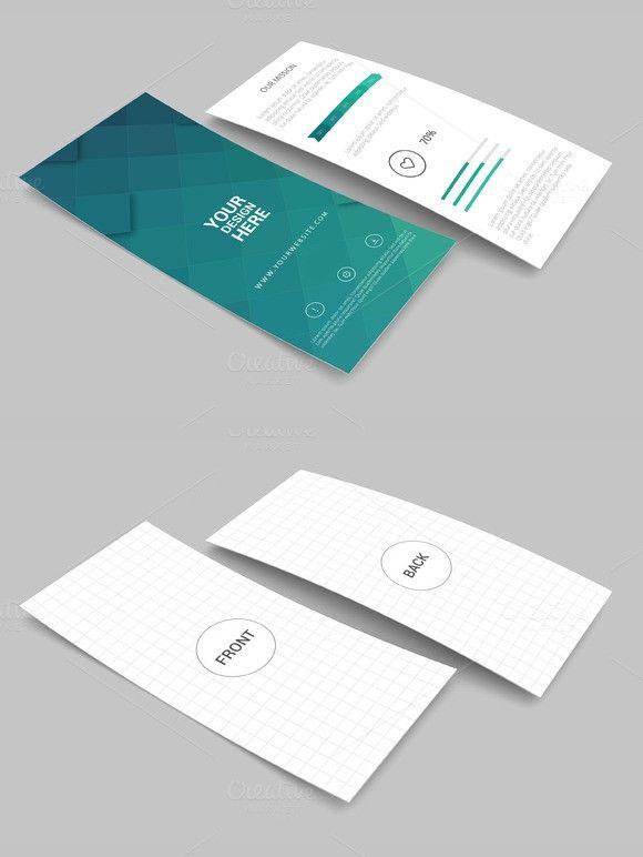 Rack Card And Brochure Mockup 2 Rack Card Business Card Mock Up Rack Cards Design