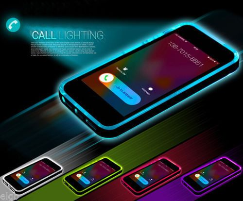 TPU-Incoming-Call-LED-Blink-Transparent-Back-Case-For-iPhone-6-4-7-Plus-5-5S -G 74973eadc