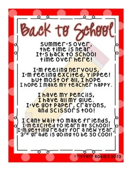 Back To School Poems 6