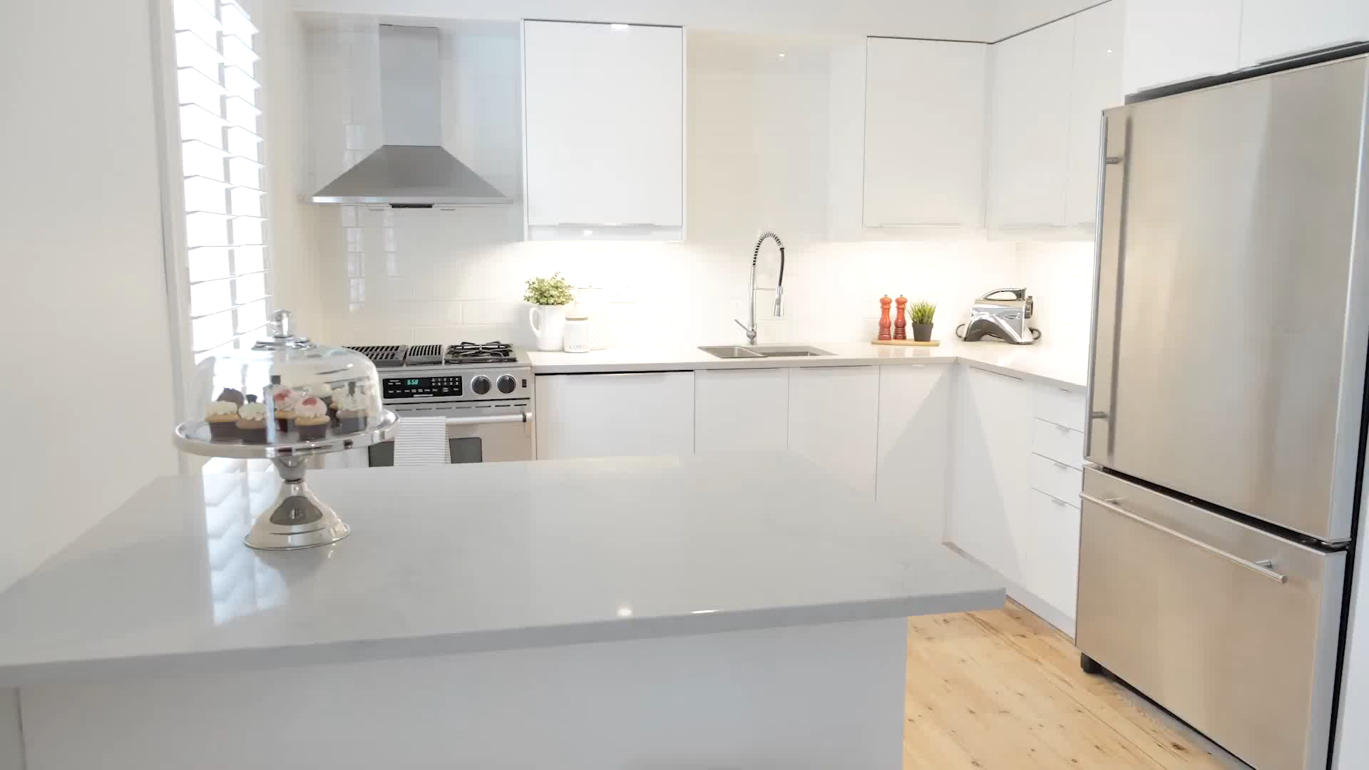 IKEA Kitchen White High Gloss Installed in Mississauga, ON