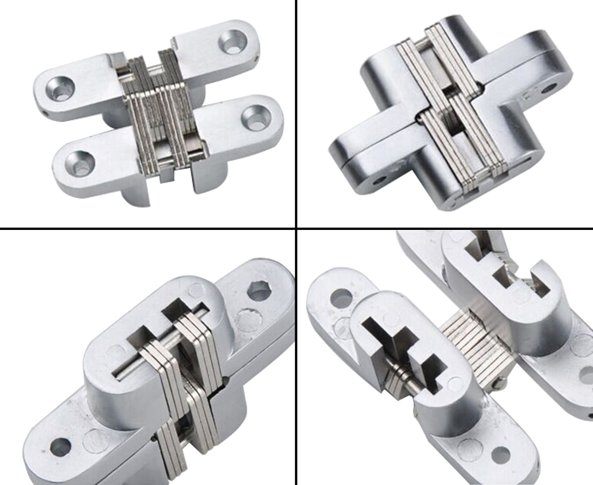 Mortise Mount Invisible Concealed Hinges 2 3 4 Inch Leaf Height