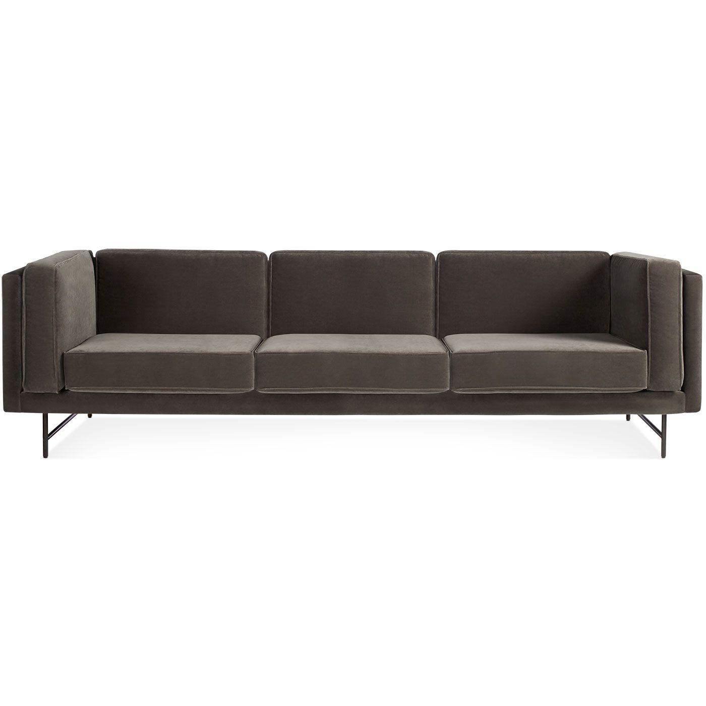 Bank 96 Quot Velvet Sofa Modern Sleeper Sofa Contemporary