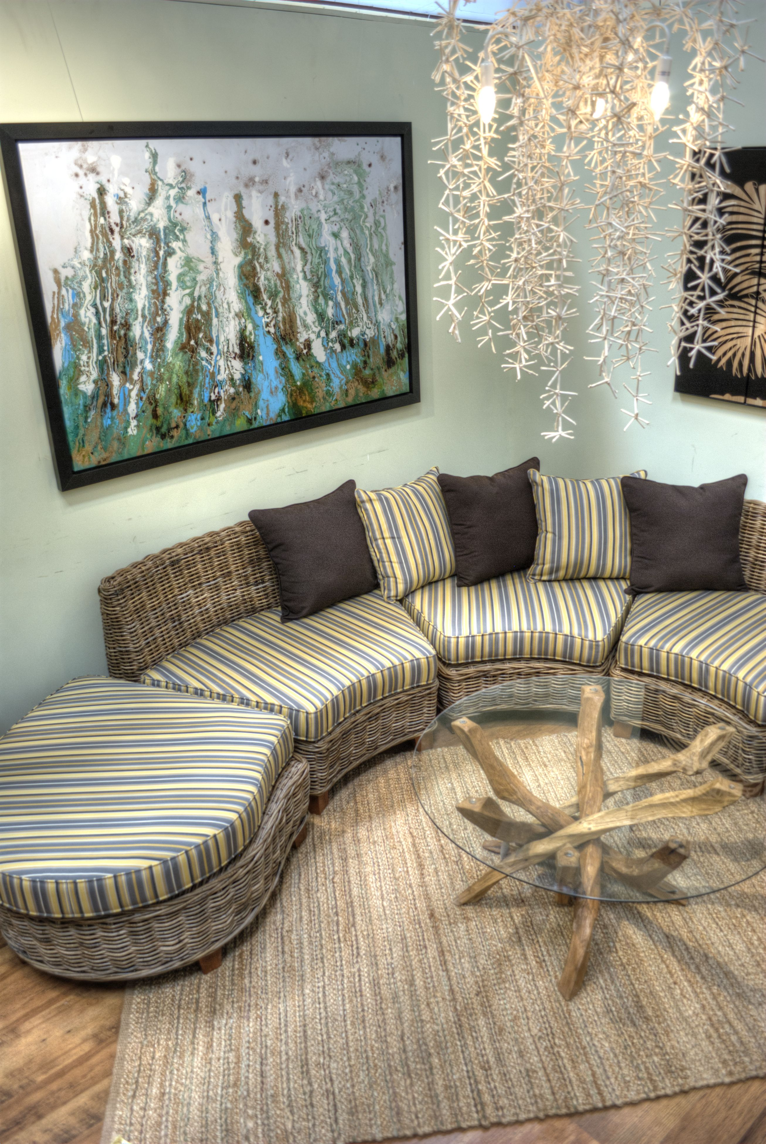 Decoracion muebles exterior sofa redondo de fibra - Muebles fibra sintetica ...