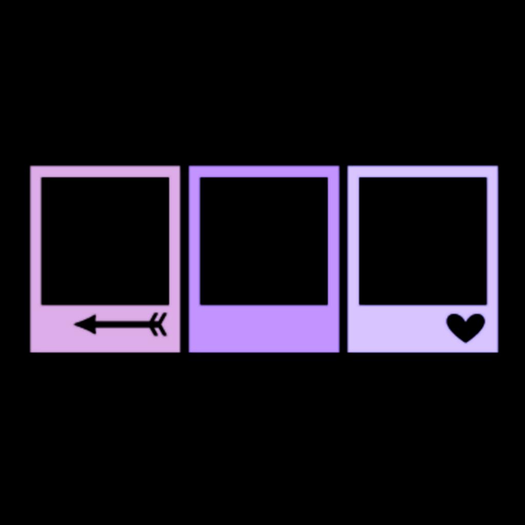 Square Poloroid Purple Edit Kpop Aesthetic Overlays Bingkai Foto Dinding Motivasi Bingkai
