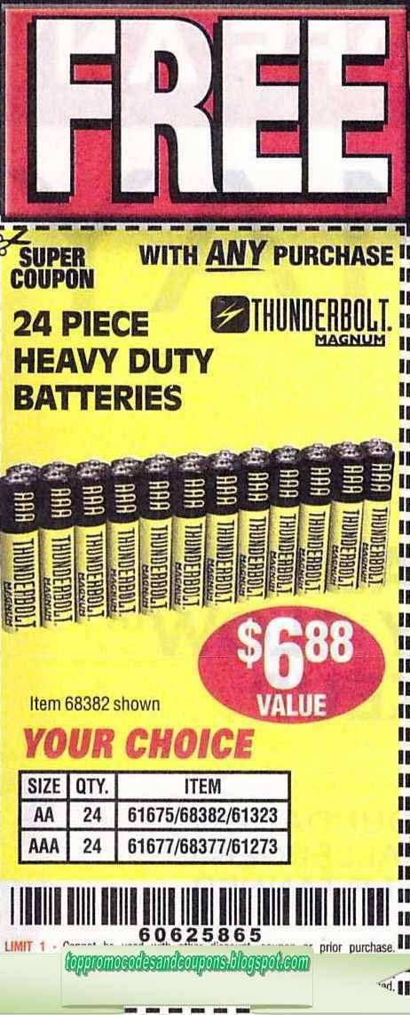 image relating to Printable Battery Coupons referred to as Pin by way of Carey Gentry upon coupon codes Harbor freight coupon, Absolutely free
