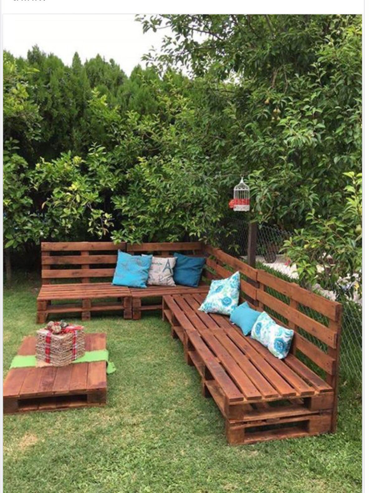 pallet garden furniture pinterest decoraci n. Black Bedroom Furniture Sets. Home Design Ideas
